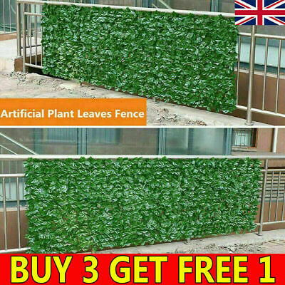 £4.99 • Buy 21 UK Artificial Ivy Leaf Hedge Panels Roll Privacy Screening Garden Fence Decor