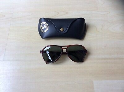 AU107.32 • Buy Vintage Ray Ban B15 Tortoise Shell Vagabond Aviator Sunglasses In Case