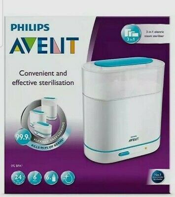 AU98.39 • Buy Philips AVENT 3 In 1 Electric Steam Steriliser SCF284/01