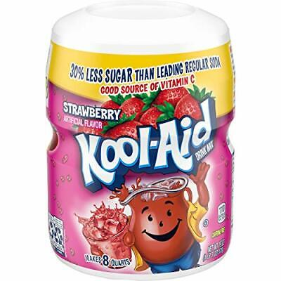 Kool-Aid Strawberry Flavored Powdered Drink Mix 19 Oz Canisters Pack Of 12 • 41.78£