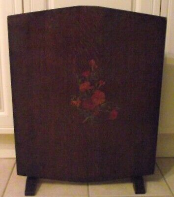£65 • Buy Vintage Folding Fire Screen Table With Carnation Design.
