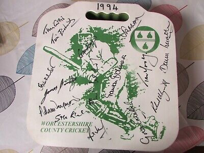£29.99 • Buy Worcestershire County Cricket Club 1994 Hand SIGNED X 15 Players Seat Cushion