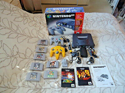 AU182.47 • Buy Boxed Nintendo 64 Console With 7 Games + 2 Controllers + Extras Uk Pal