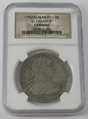 AU292.02 • Buy 1783 Mo FF Mexico 8R Reales Silver NGC Genuine Coin  Shipwreck Certification