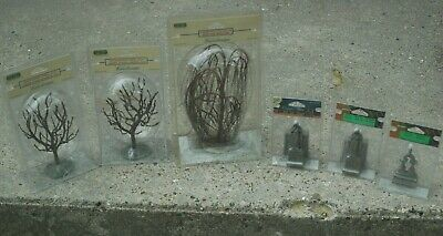 $ CDN56.65 • Buy Lemax Spooky Town Set/Lot X6 Halloween Decorations Trees/Tombstones Crypt New