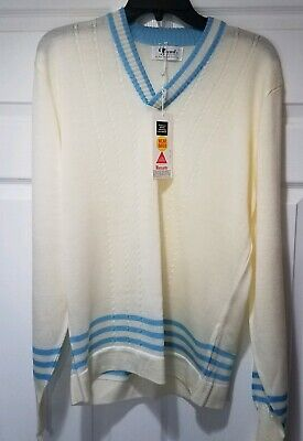 $55 • Buy Vtg Mens Sweater Trend Fashions Size Large Tennis Cricket Huntley Of New York