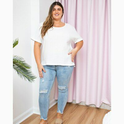 AU49.95 • Buy Sunset Top In White By Freez Clothing*