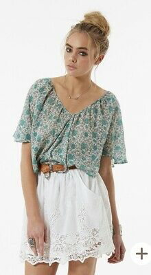 AU142.77 • Buy Spell & The Gypsy Collective Kombi Flutter Top In Sage Size XL
