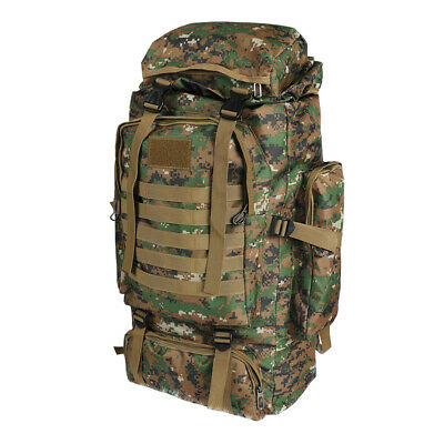 AU41.21 • Buy 80L Military Tactical Backpack Rucksack Hiking Camping Outdoor Trekking Army Bag