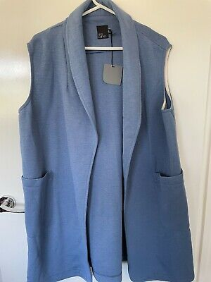 AU11.50 • Buy Women's Plus Size Asos Curve Jacket Vest Blue 22