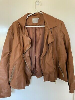 AU11.50 • Buy Women's Plus Size Faux Leather Tan Jacket Asos Curve 22