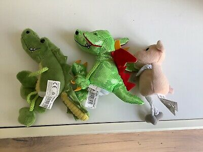£7.99 • Buy Puppet Company Green Dragon, Crocodile And Pig Finger Puppets Bundle