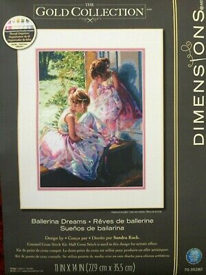 Dimensions Gold Collection Counted Cross Stitch Kit Ballerina Dreams • 23£