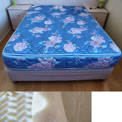 AU195 • Buy Double Bed Base + Mattress Ensemble Frame + Valance Bed Skirt