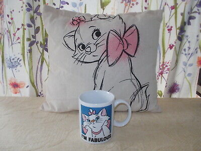 £7.50 • Buy Disney Mug & Cushion Featuring 'Marie' From The Aristocats