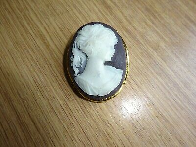 Lovely Vintage Faux Cameo Brooch • 1.10£