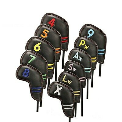AU58.79 • Buy Portable Golf Club Iron Cover Headcover Golf Clubs Protector Rainbow AU