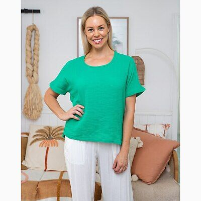 AU49.95 • Buy Sunset Top In Emerald By Freez Clothing*