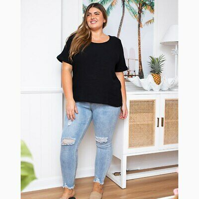 AU49.95 • Buy Sunset Top In Black By Freez Clothing*