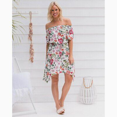 AU59.95 • Buy Gypsy Dress In White Floral By Freez Clothing*