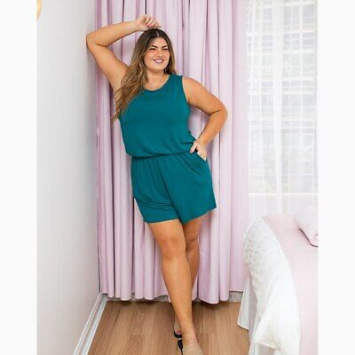 AU59.95 • Buy Jersey Playsuit In Teal By Freez Clothing