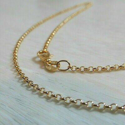 AU266 • Buy Genuine New 9K Solid Yellow, Rose Pink Or White Gold Necklace 40,45,50,55 & 60cm