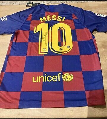 AU698.89 • Buy Messi Barcelona Jersey Signed With COA