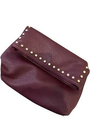 AU20 • Buy Forever New Clutch Purple/marrone/wine Bag With Stud Detail