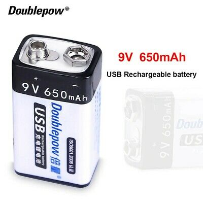AU11.07 • Buy USB Rechargeable Battery 9V 650mah High Quality Batteries 6F22 Fast Charging