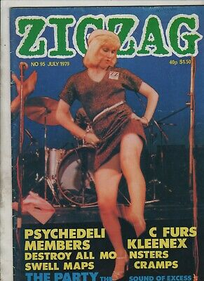 £13.37 • Buy ZIGZAG MAGAZINE #95 1979 The Cramps/Destroy All Monsters/Kleenex/The Prats