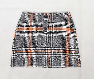 £5 • Buy Primark Womens Grey Check Knit A-Line Skirt Size 8