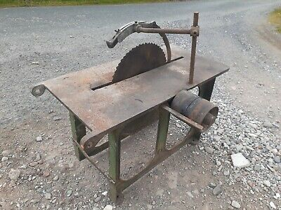 £220 • Buy Vintage Saw Bench Belt Pulley Driven Tractor Stationary Engine Logging Show