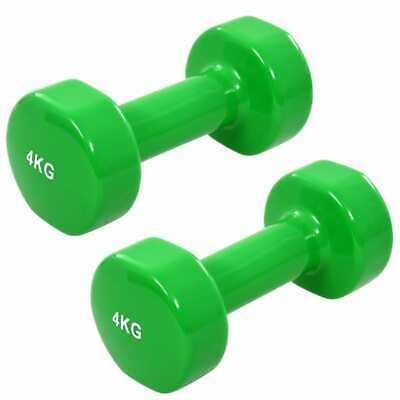 AU39.99 • Buy VidaXL 2x Dumbbell 8kg Cast Iron Green Exercise Fitness Free Weight Plate