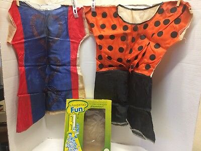 £10.64 • Buy VINTAGE Halloween COSTUME TOY CHILD'S Lot 2 Box Pebbles & Miss Captain America?
