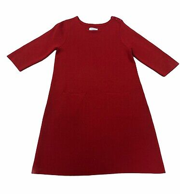 AU8.97 • Buy Toast Ladies Red 100% Wool Jumper Style Dress UK 10   HO34