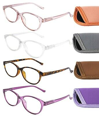 £4.99 • Buy Womens Anti Blue Light Blocking Reading Glasses With Case Computer Screen