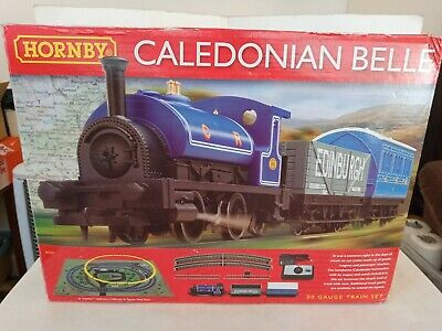 Hornby 00 Gauge Caledonian Belle Train Set,Tested, Complete/Good,Nice Small Set! • 10.60£