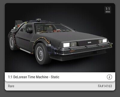 $50 • Buy Back To The Future DeLorean Rare #25000 VeVe NFT 3D Digital Collectible Sold Out
