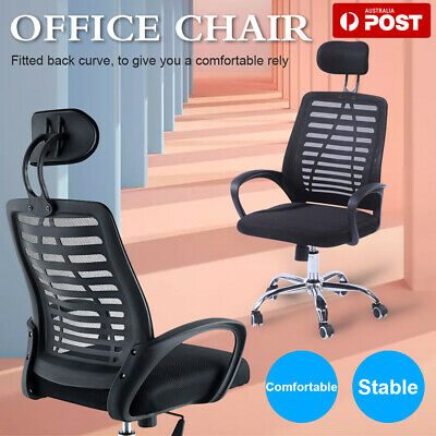 AU10.99 • Buy Office Chair Gaming Chair Computer Mesh Chairs Executive Black Desk Chair