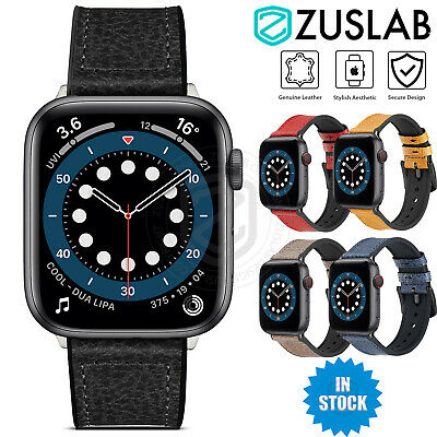 AU19.95 • Buy For Apple Watch IWatch Band SE 6 5 4 3 2 1 Genuine Leather Strap 44 42 40 38 Mm