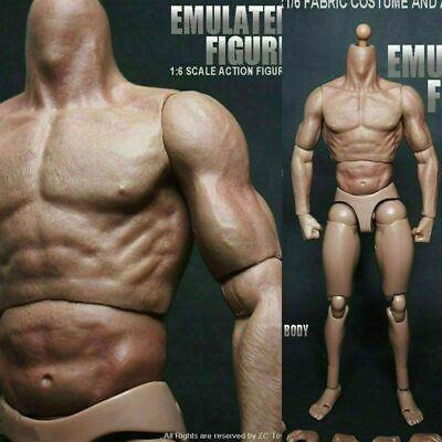 £18.59 • Buy 1/6 Scale 12  Muscular Male Action Figure Body Fit Hot Toys Head Sculpt Gifts