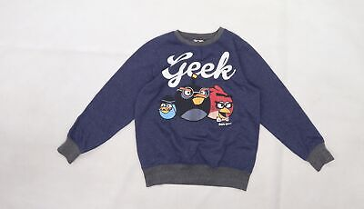 £5 • Buy Angry Birds Boys Blue  Jersey Pullover Sweatshirt Size 7-8 Years