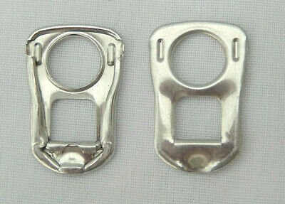 100 Silver Square Can Ring Pulls • 2.50£