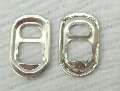 100 Silver Oval/Buckle Can Ring Pulls • 2.50£
