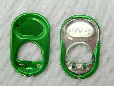 100 Green Round Can Ring Pulls  • 2.50£
