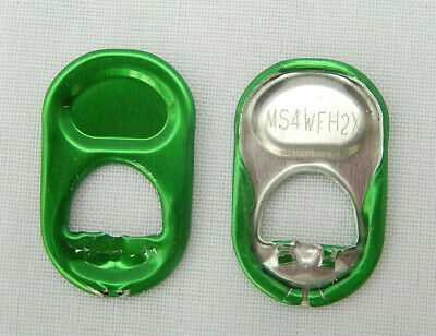 250 Green Round Can Ring Pulls  • 4£