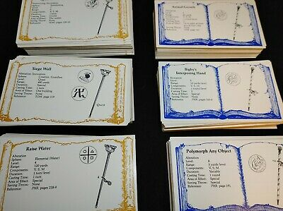 AU22.83 • Buy Advanced Dungeons & Dragons Mix Lot Priest Spells, Wizard, Cards TSR 2nd Edition