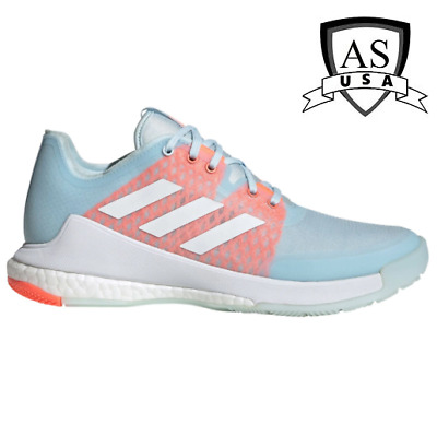 AU58.92 • Buy Adidas Women's Crazyflight Volleyball Shoes Size 5.5  EF2676 Sky Tint/ Coral New