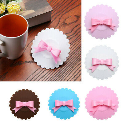£4.11 • Buy Bowknot Dustproof Reusable Cup Silicone Lid Cup Cover Seal Cover