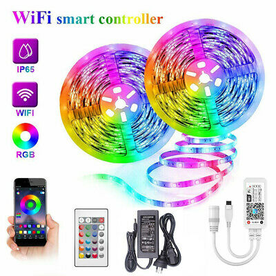 AU32.99 • Buy 12V 10M Smart Wifi 300 RGB LED Strip Lights Waterproof Alexa Echos Google Home